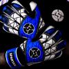 SAVIOUR GK SPARTAN BLUE ROLL FINGER GOALKEEPER GLOVES