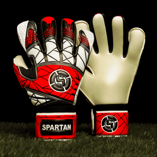 SAVIOUR GK SPARTAN RED HYBRID GOALKEEPER GLOVES