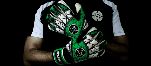SAVIOUR GK SPARTAN ROLL FINGER GREEN GOALKEEPER GLOVES