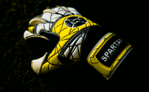 SAVIOUR GK SPARTAN YELLOW ROLL FINGER GOALKEEPER GLOVES